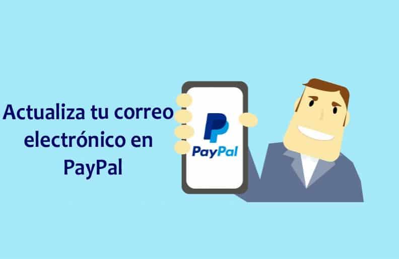 actualizar dirección de correo PayPal